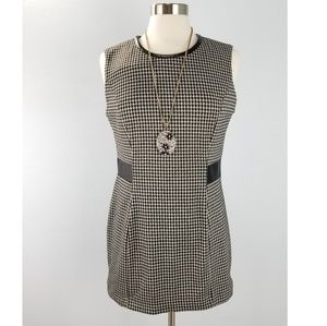 Ellen Tracy Tunic Top Knit Houndstooth Sleeveless